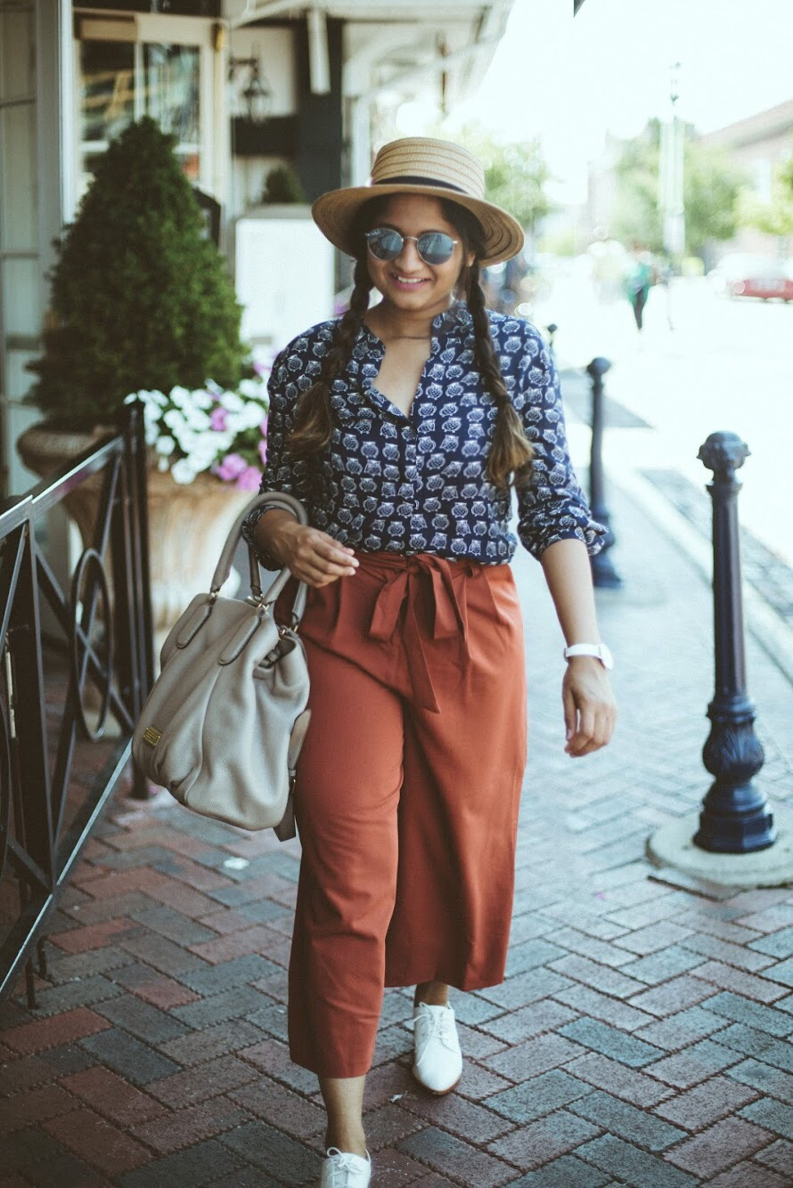 Lifestyle Blogger Surekha of Dreaming Loud Wearing ASOS Tailored Culotte with Tie Waist