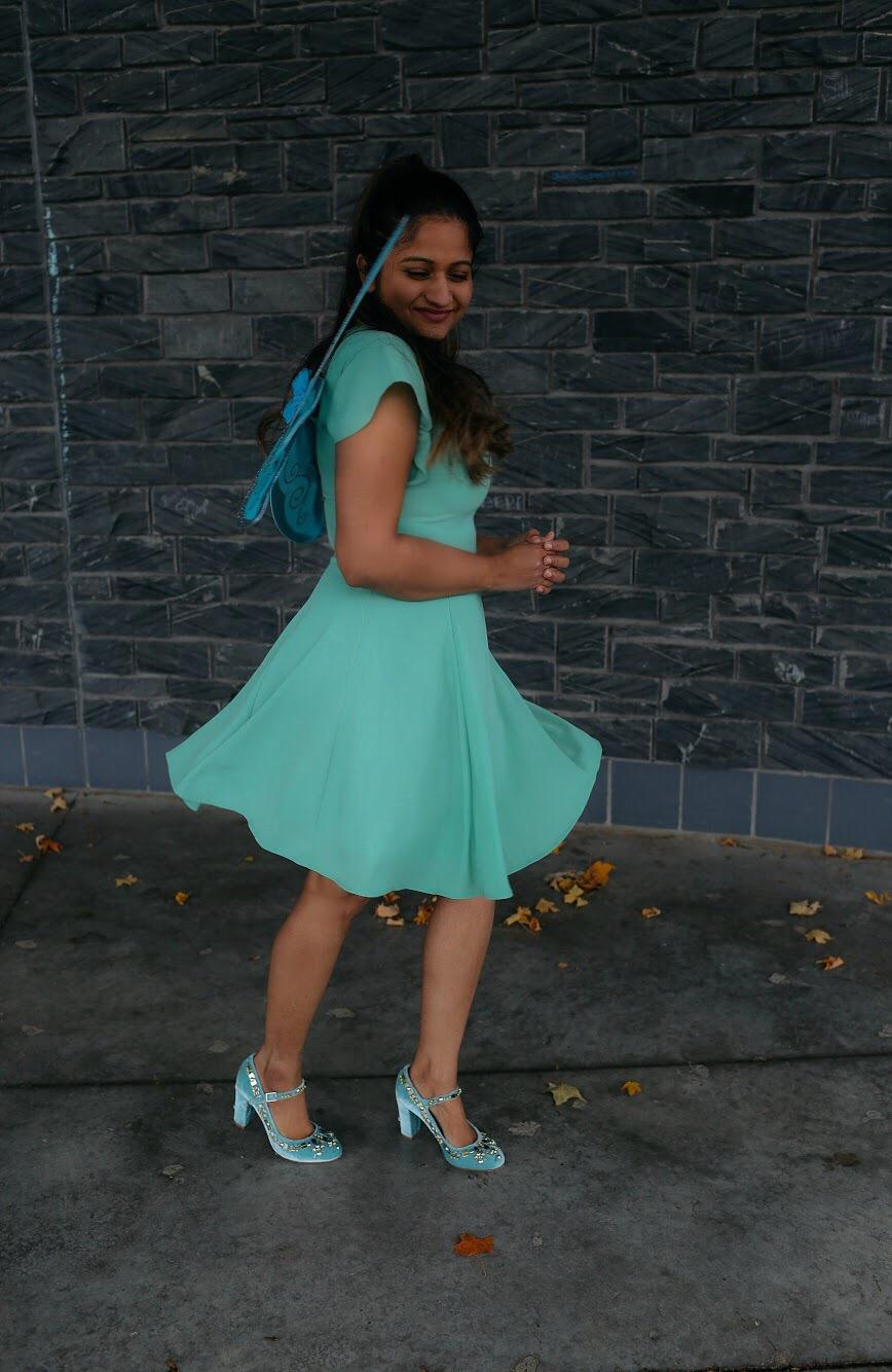 Lifestyle Blogger Surekha of Dreaming Loud sharing Disney Fairy Tinker Bell Halloween costume 2