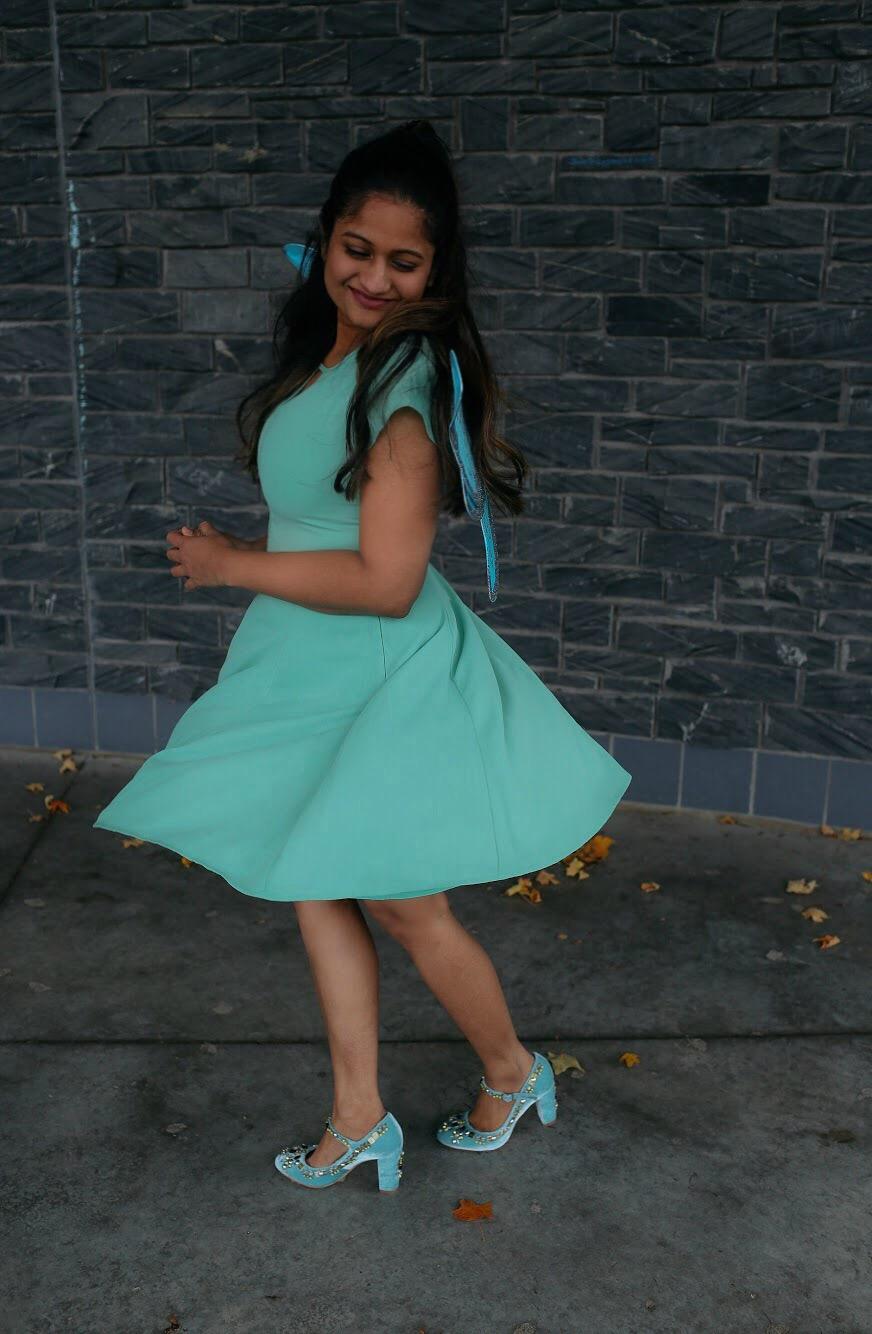 Lifestyle Blogger Surekha of Dreaming Loud sharing Disney Fairy Tinker Bell Halloween costume 3