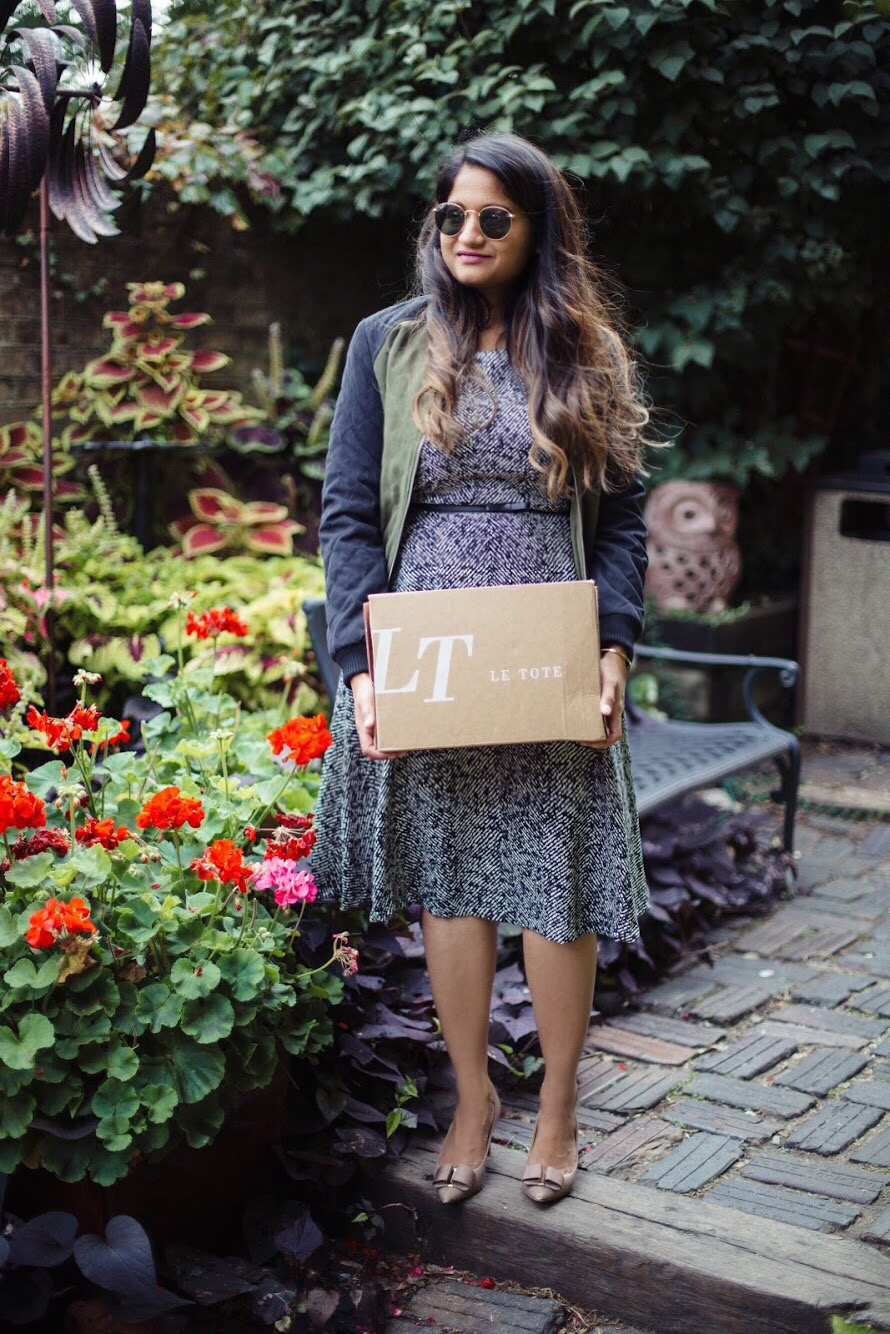 Lifestyle-Blogger-Surekha-of-dreaming-loud-wearing-Letote- PHILOSOPHY-Herringbone-Dress-1