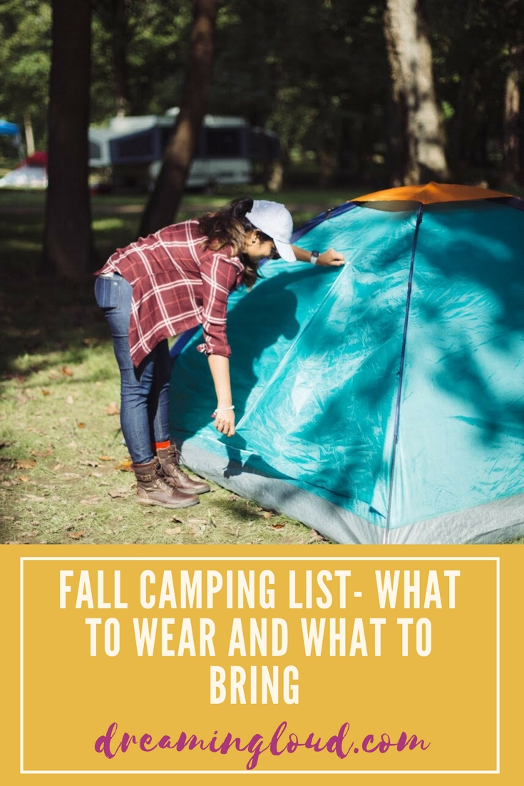 Lifestyle blogger Surekha of Dreaming Loud sharing fall tent camping checklist- what to expect, what to wear and what to bring with you - Fall Camping Checklist featured by popular Ohio lifestyle blogger, Dreaming Loud