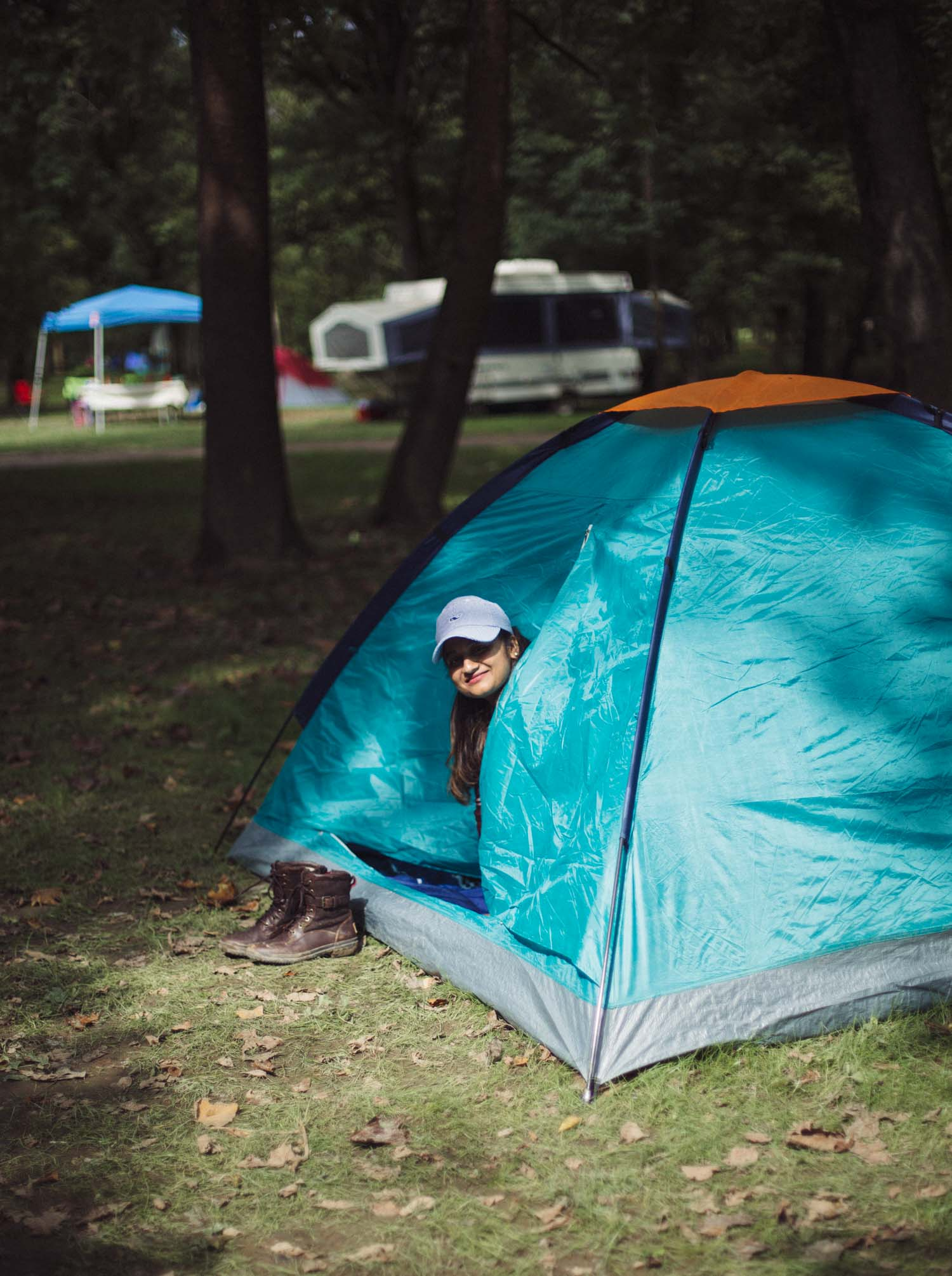 Lifestyle blogger Surekha of Dreaming Loud sharing what to expect from a first time tent camping1 - Fall Camping Checklist featured by popular Ohio lifestyle blogger, Dreaming Loud