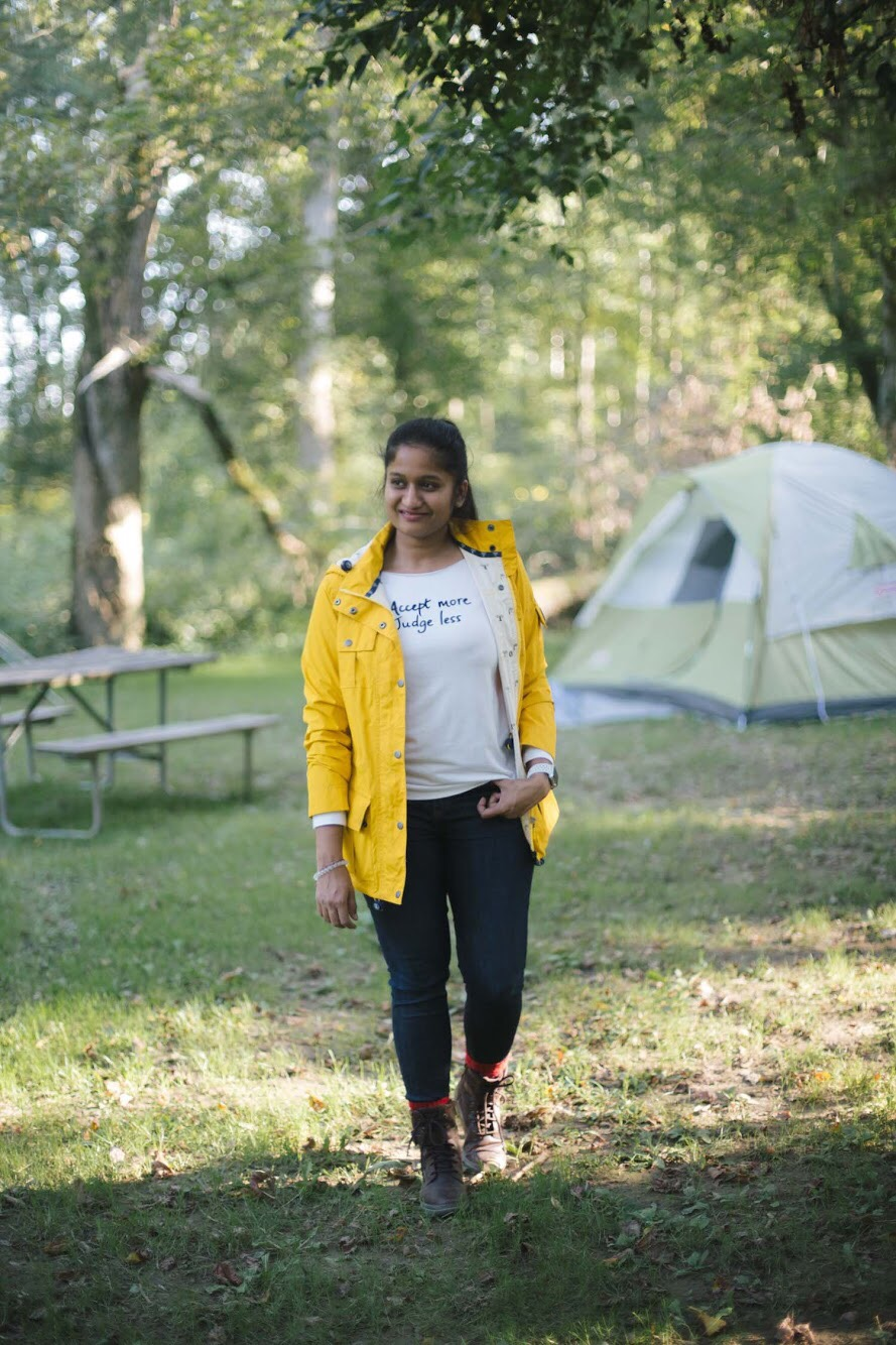 Lifestyle blogger Surekha of Dreaming Loud sharing what to wear to a camping trip in fall2 - Fall Camping Checklist featured by popular Ohio lifestyle blogger, Dreaming Loud