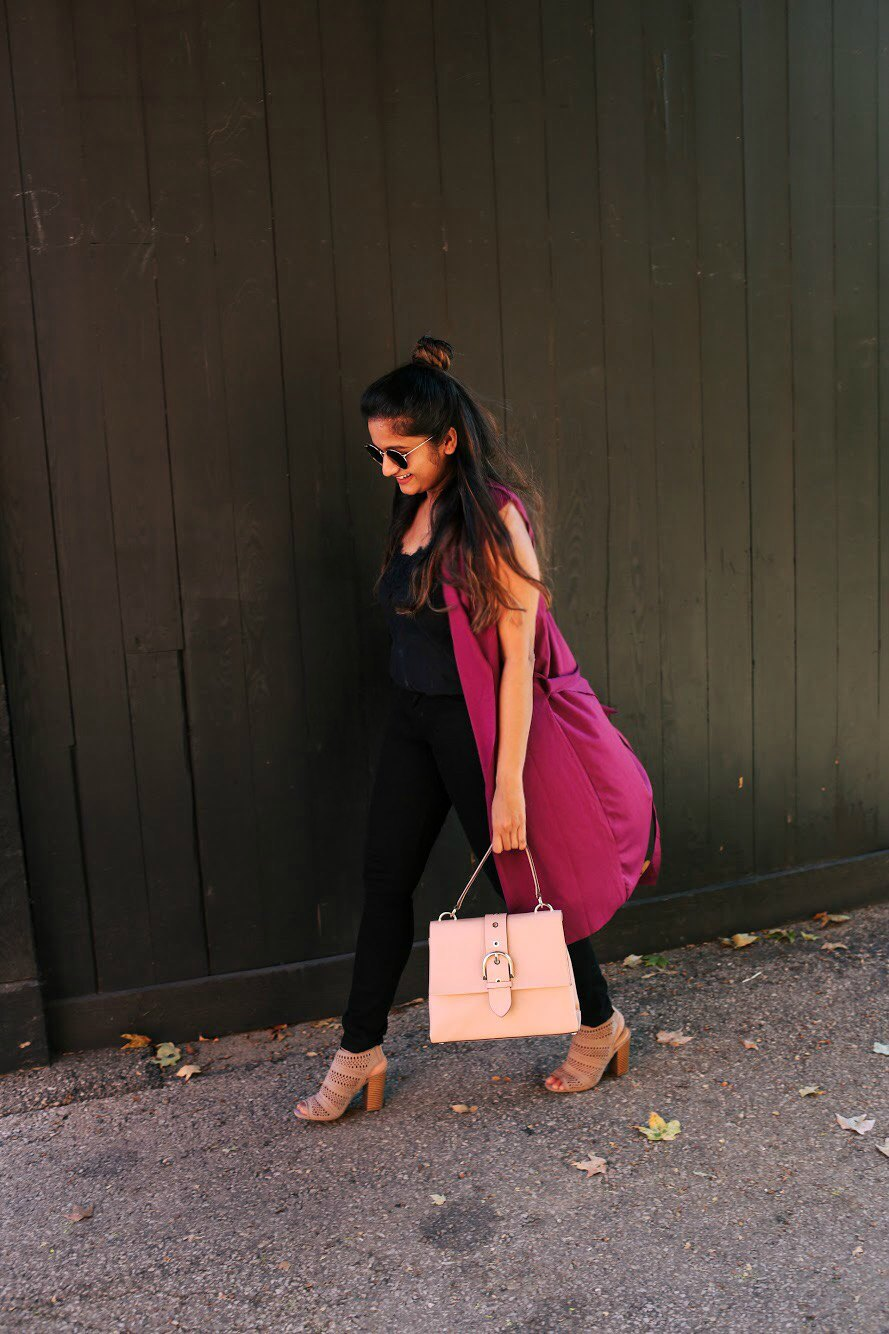 Lifestyle blogger Surekha of Dreaming Loud wearing Henri bendel Riverside Top Handle Satchel