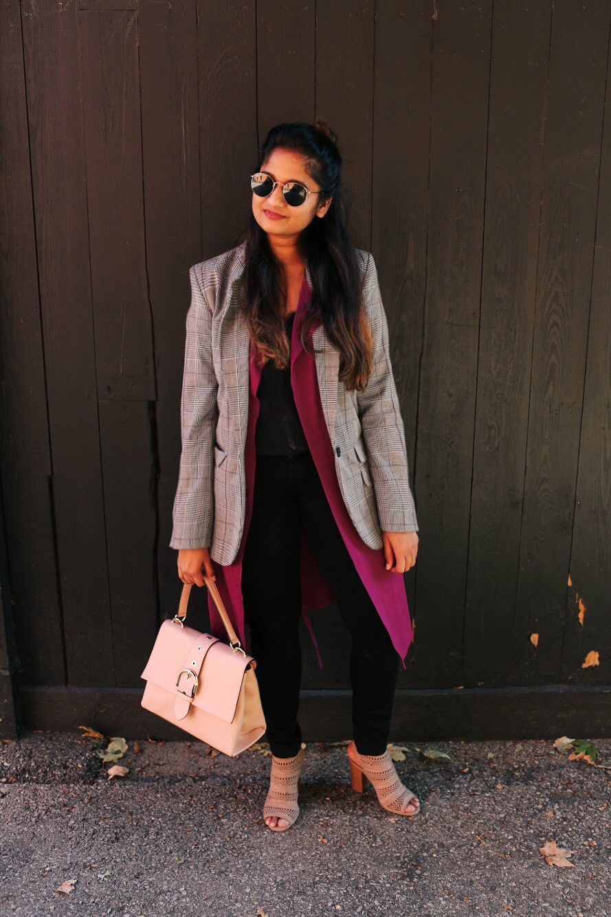 Lifestyle blogger Surekha of Dreaming Loud wearing Target a new day Plaid Boyfriend Blazer2