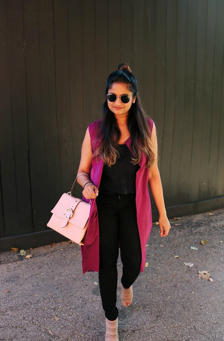 Lifestyle blogger Surekha of Dreaming Loud wearing boohoo Maddison Sleeveless Belted Duster3