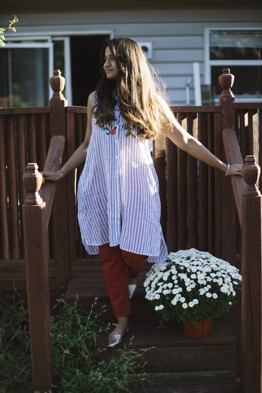 Lifestyle blogger Surekha of Dreaming loud sharing Fall favorites from Old navy 2017