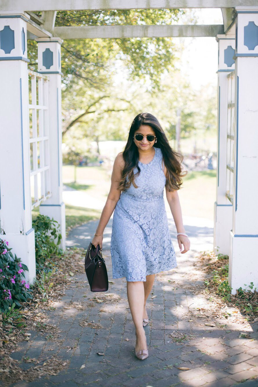 Lifestyle blogger Surekha of dreaming loud wearing Soprano Popover Lace Dress 1 - Know Your Worth! featured by popular Ohio lifestyle blogger, Dreaming Loud