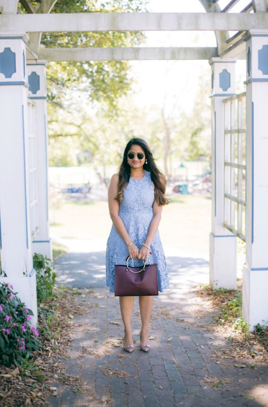 Lifestyle blogger Surekha of dreaming loud wearing Soprano Popover Lace Dress 4 - Know Your Worth! featured by popular Ohio lifestyle blogger, Dreaming Loud