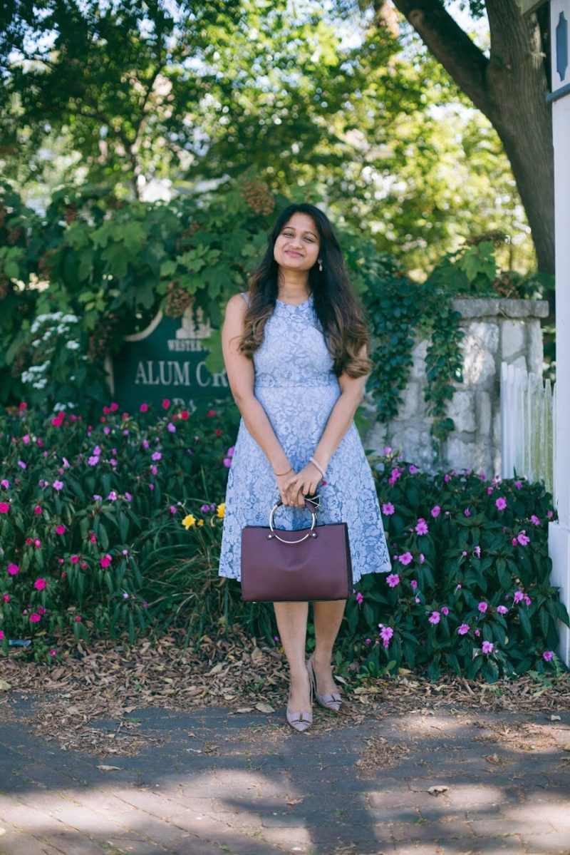 Lifestyle blogger Surekha of dreaming loud wearing Soprano Popover Lace Dress - Know Your Worth! featured by popular Ohio lifestyle blogger, Dreaming Loud