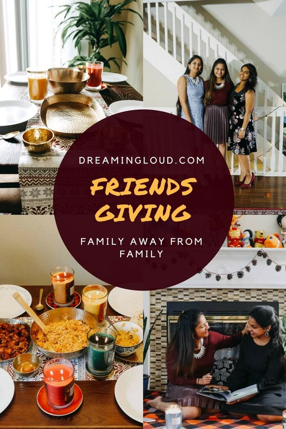 Lifestyle blogger Surekha of Dreaming Loud celebrating Thanksgiving /friendsgiving with friends