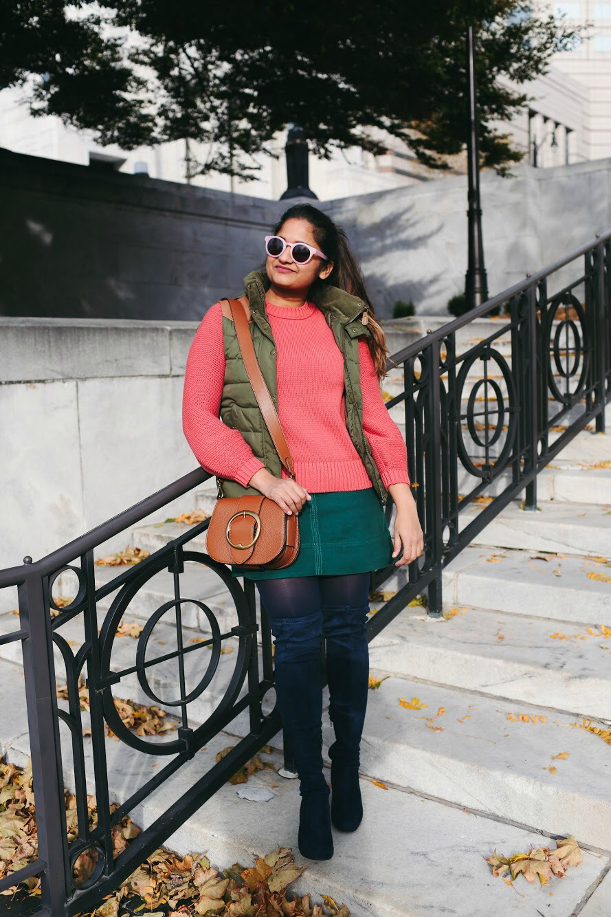 Lifestyle Blogger Surekha of Dreaming Loud Sharing 10 Colorful Thanksgiving outfits
