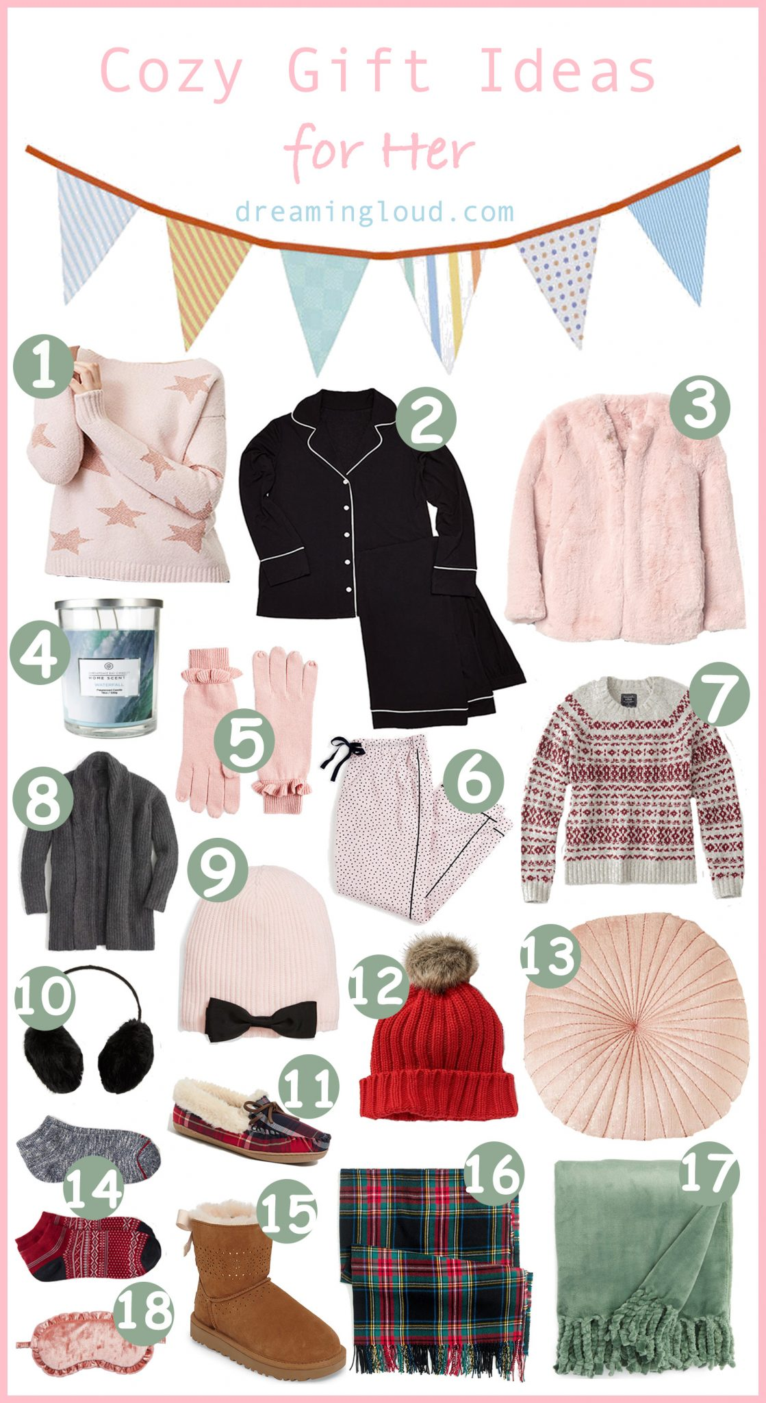 Christmas | Holiday | Pjs | Cozy Gift Ideas For Her featured by top Ohio lifestyle blog Dreaming Loud