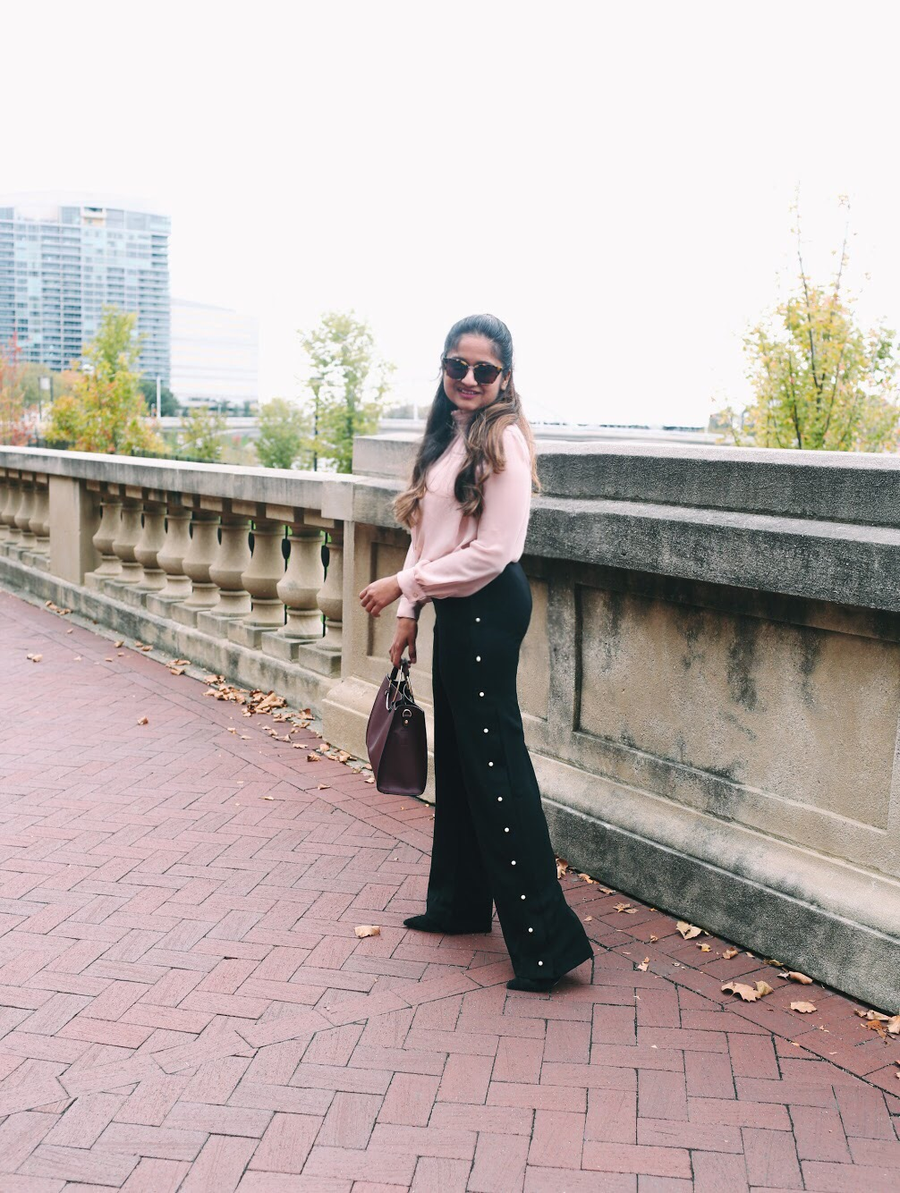 Lifestyle Blogger Surekha of Dreaming Loud Sharing how to wear Pearl Embellishment Fall Trend 2017 1