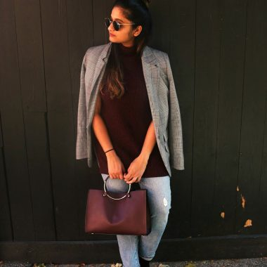 Lifestyle Blogger Suri of Dreaming Loud wearing gap for good Women Mid Rise Best Girlfriend Jeans