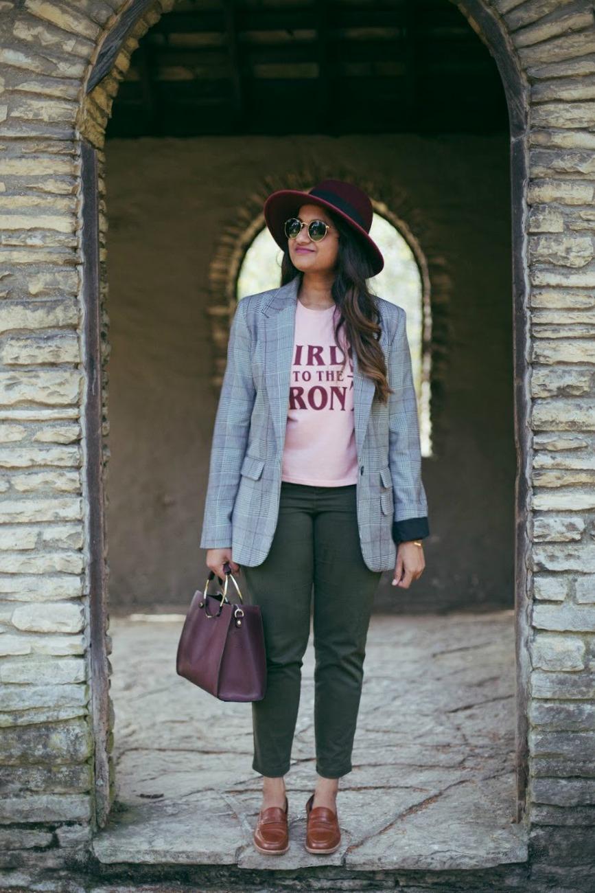 Lifestyle blogger Surekha of dreaming loud wearing Mid-Rise Sateen Utility Pixie Chinos khaki-2