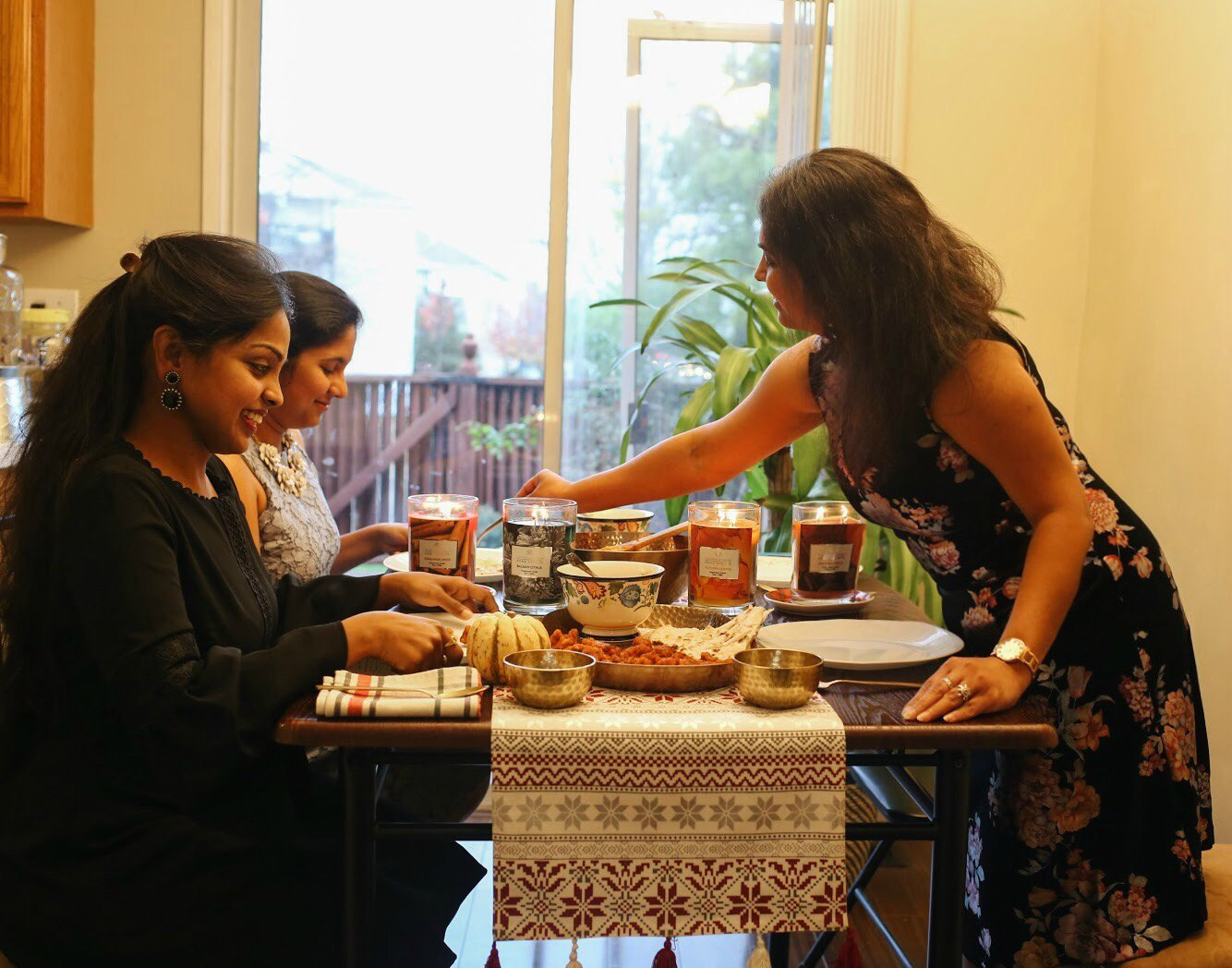 South Asian Vegetarian Thanksgiving Tablespace and food