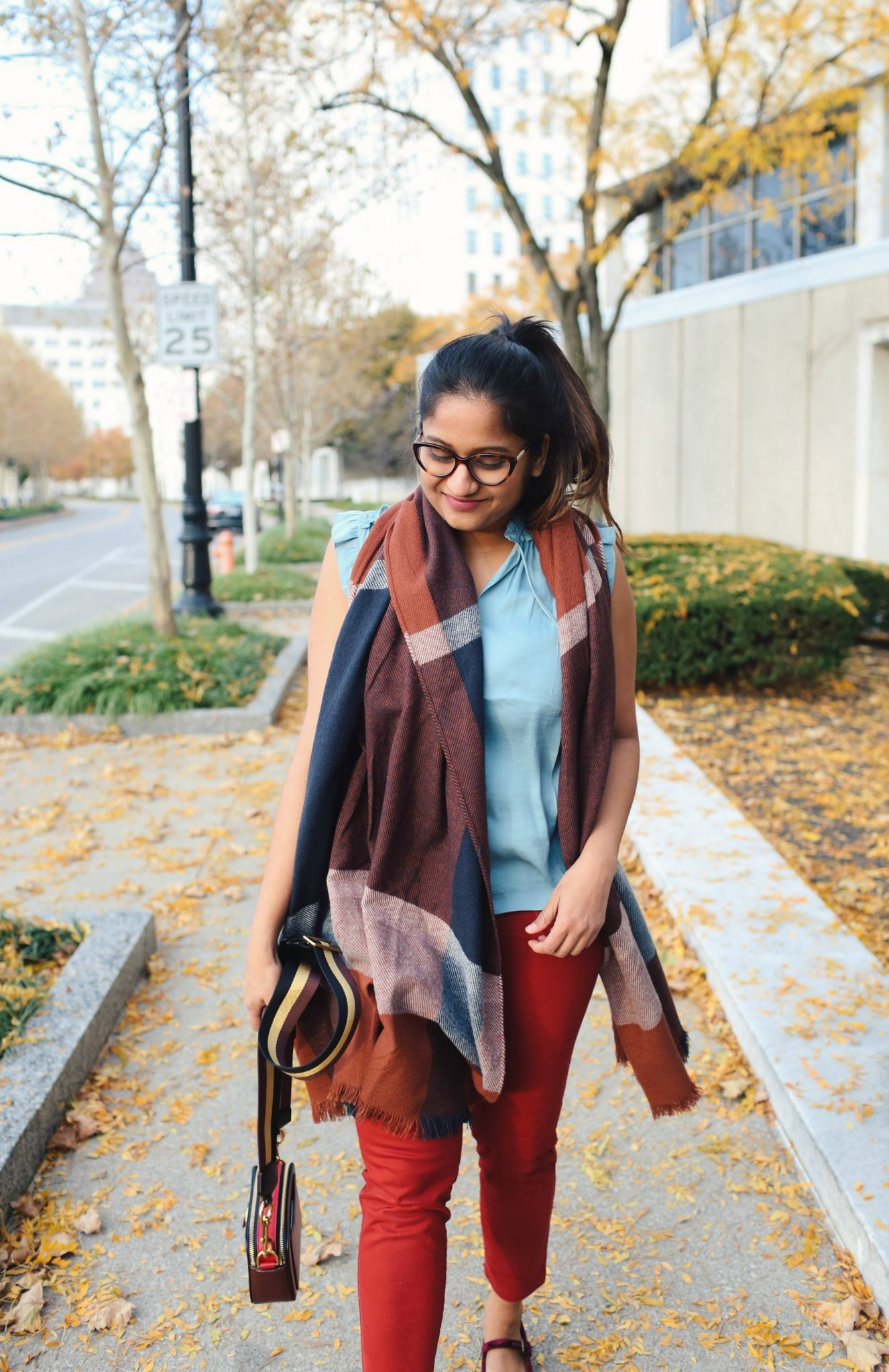 659fff5cd6a3 ... sharing Thanksgiving fall colorful outfits lifestyle blogger Surekha of Dreaming  Loud wearing old navy Mid-Rise Sateen Utility Pixie Chinos