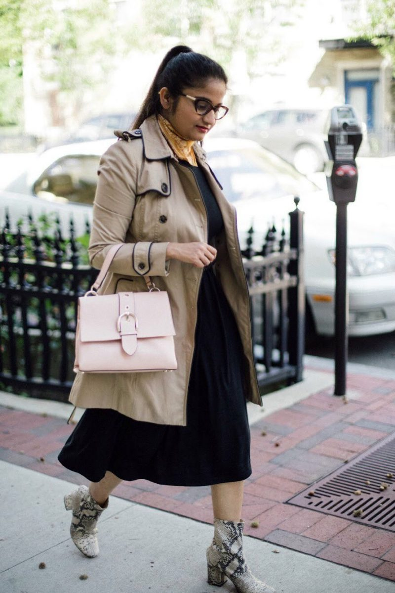 lifestyle blogger Suri of dreaming loud wearing henri bendel riverside top handle satchel