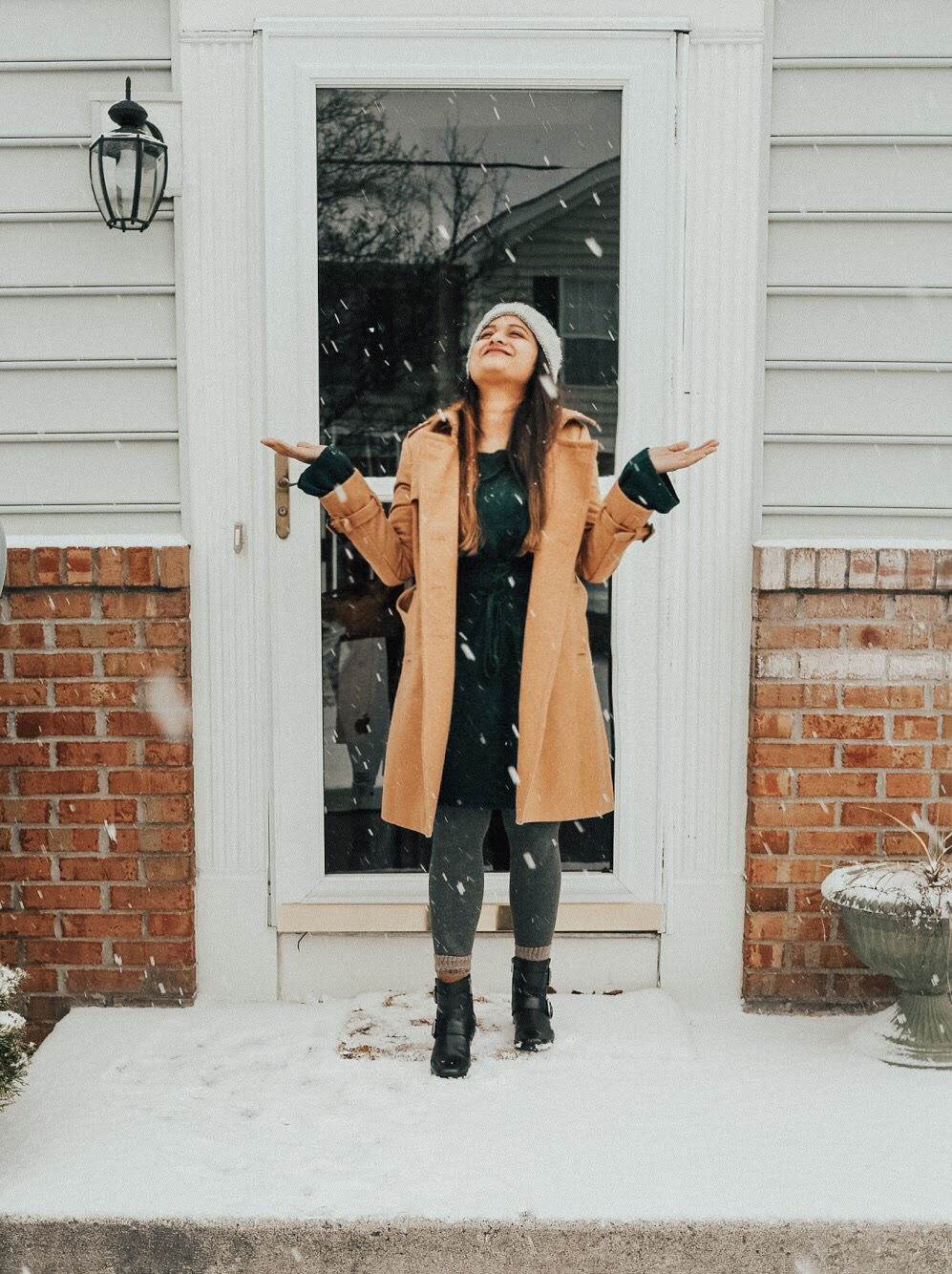Fashion and Natural beauty blog Dreaming Loud Wearing JCrew Icon Trench Wool Cashmere Coat in camel
