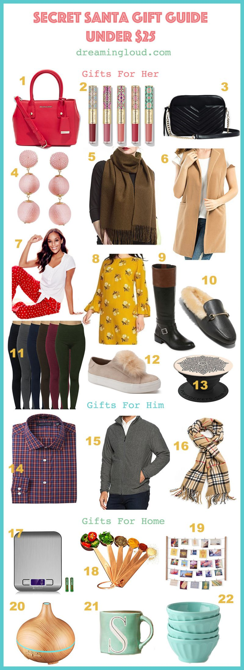 Life Style Blog Dreaming Loud Sharing Secret Santa Gift Guide Or Ideas Under 25 2017