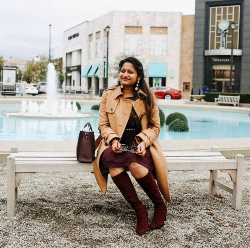 Lifestyle blogger Suri of dreaming loud wearing J.Crew Icon trench coat in Italian wool cashmere in camel 2