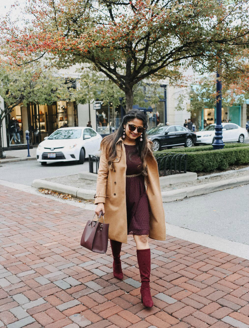 Lifestyle blogger Surekha of dreaming loud wearing J.Crew Icon trench coat in Italian wool cashmere