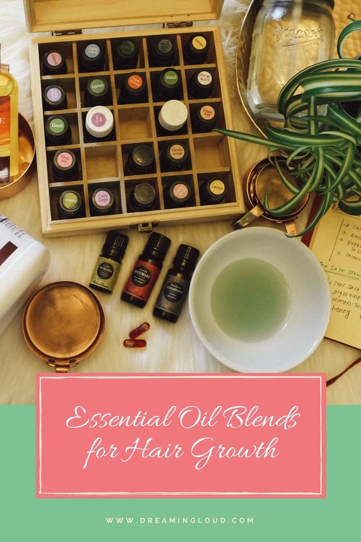 Lifestyle Blog Dreaming Loud Sharing 3 DIY Essential Blends for Hair Growth and reducing hair fall - Essential Oils for Hair Growth and Reduce Hair Fall featured by popular Ohio natural beauty blogger, Dreaming Loud