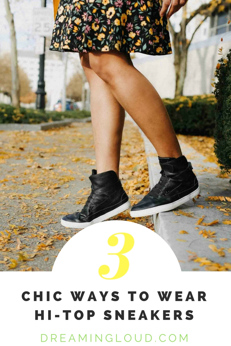 Lifestyle Blog Dreaming Loud Sharing 3 chic ways to wear Time slippers hi-top sneakers