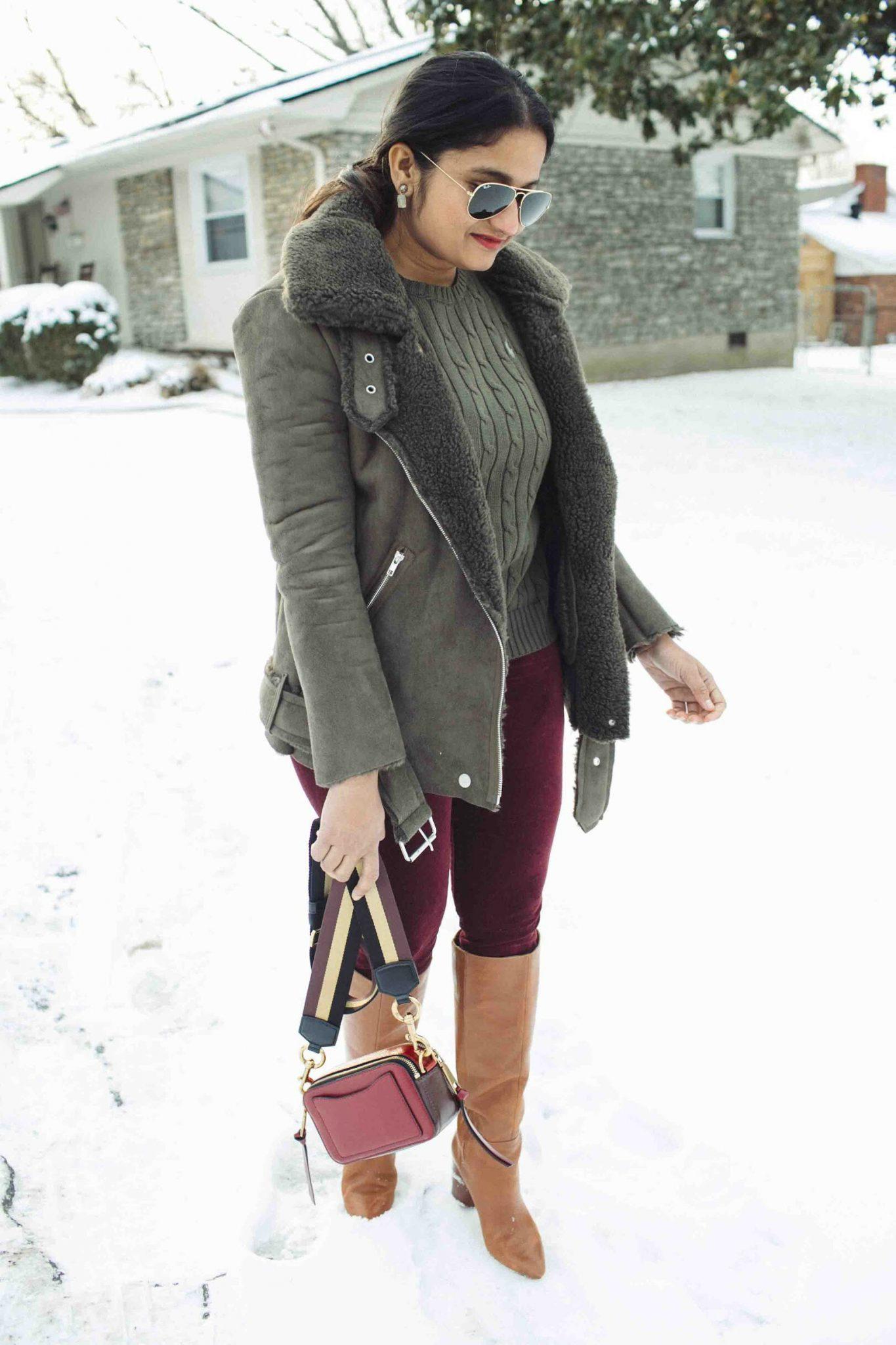 Lifestyle Blog Dreaming Loud wearing Ag The Farrah High Waist Velvet Jeans
