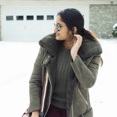 Lifestyle Blog Dreaming Loud wearing J.O.A. Faux Shearling Biker Jacket