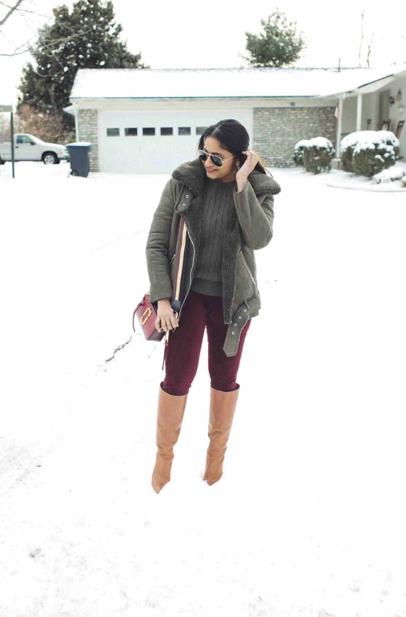 Lifestyle Blog Dreaming Loud wearing Marc Jacobs Snapshot Small Camera Bag in deep maroon