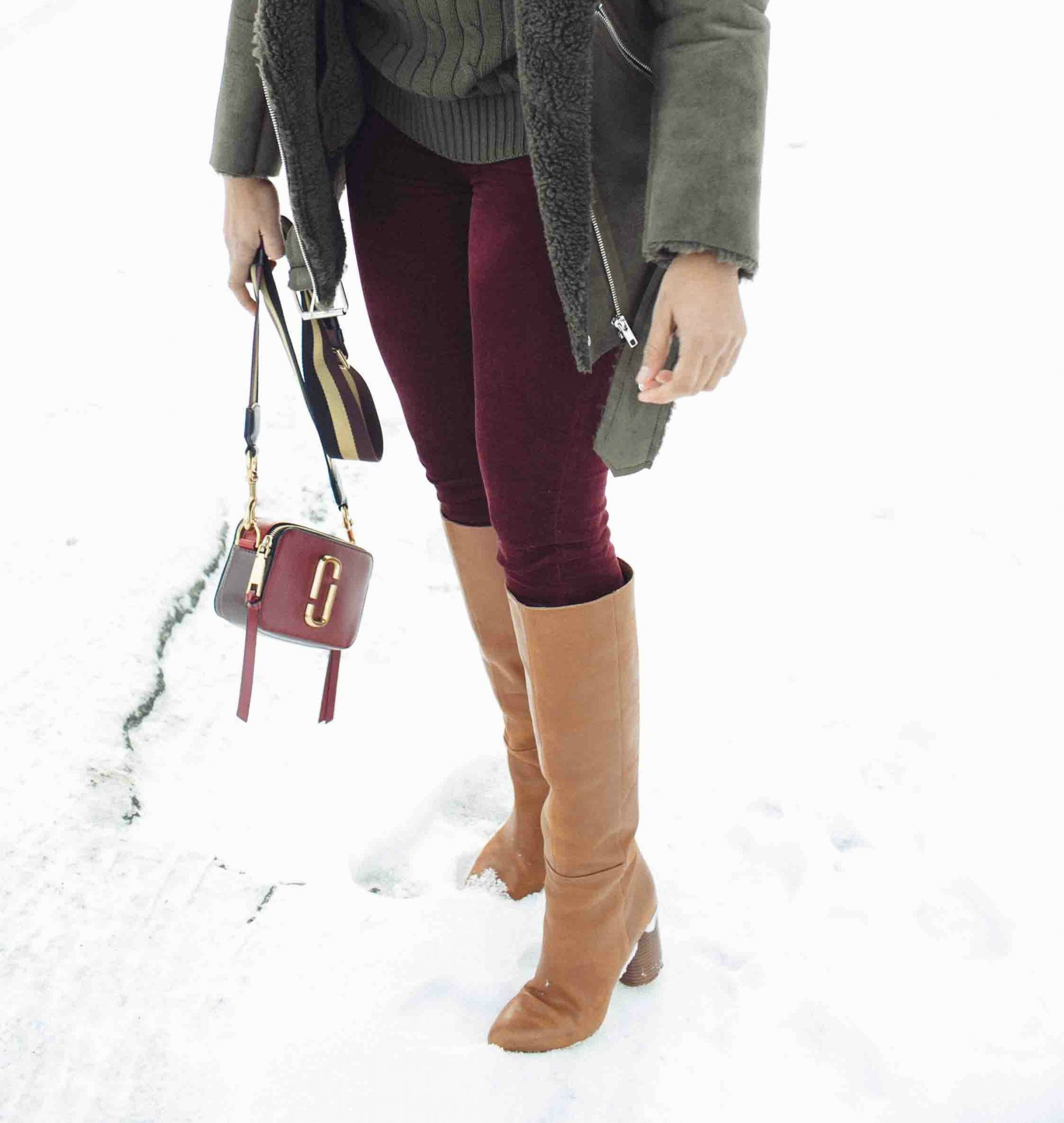 Lifestyle Blog Dreaming Loud wearing Nine West Christie Knee high heeled boots