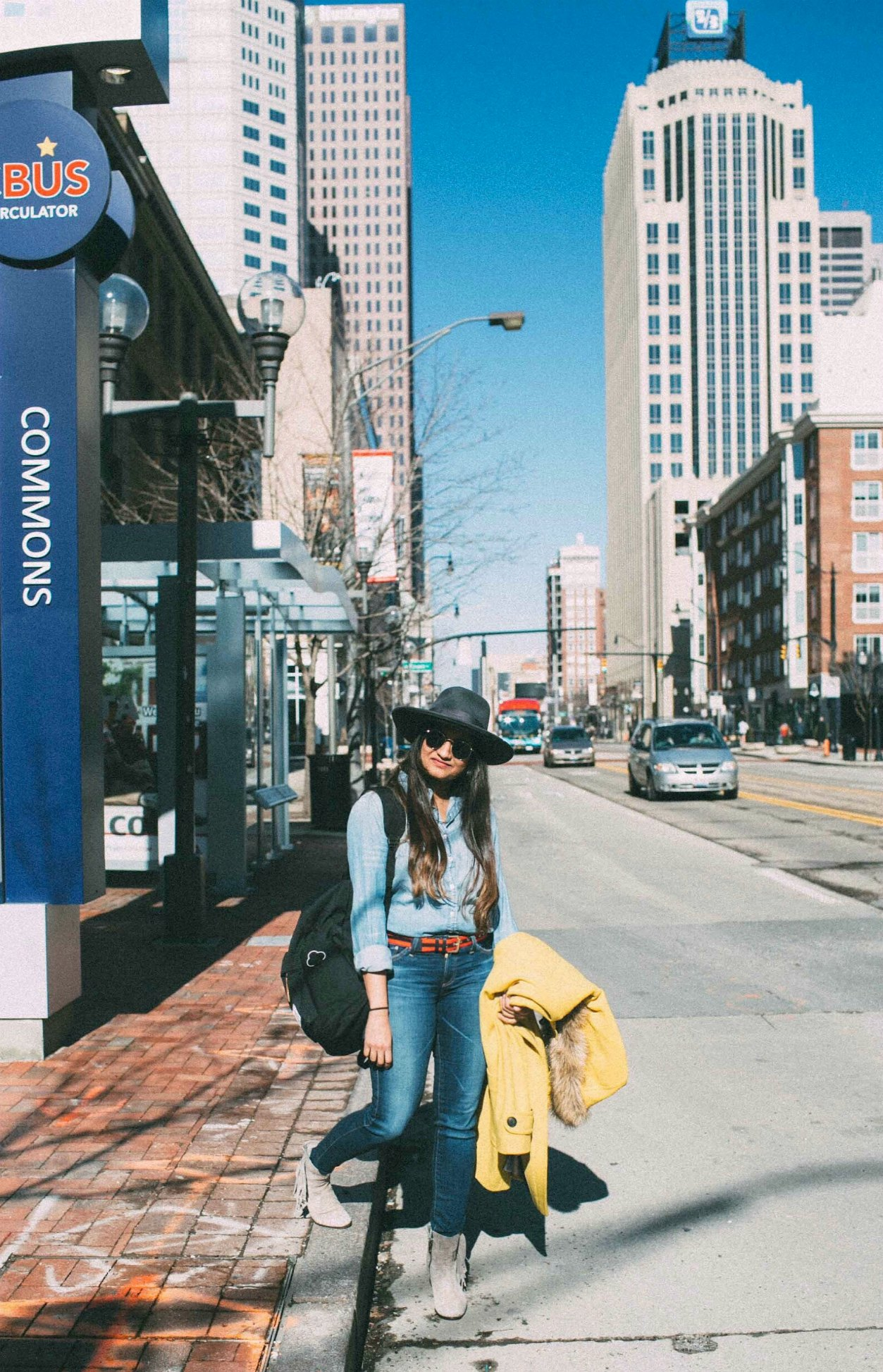 Lifestyle Blog Dreaming loud wearing double denim- aj jeans and j.crew chambray shirt 1