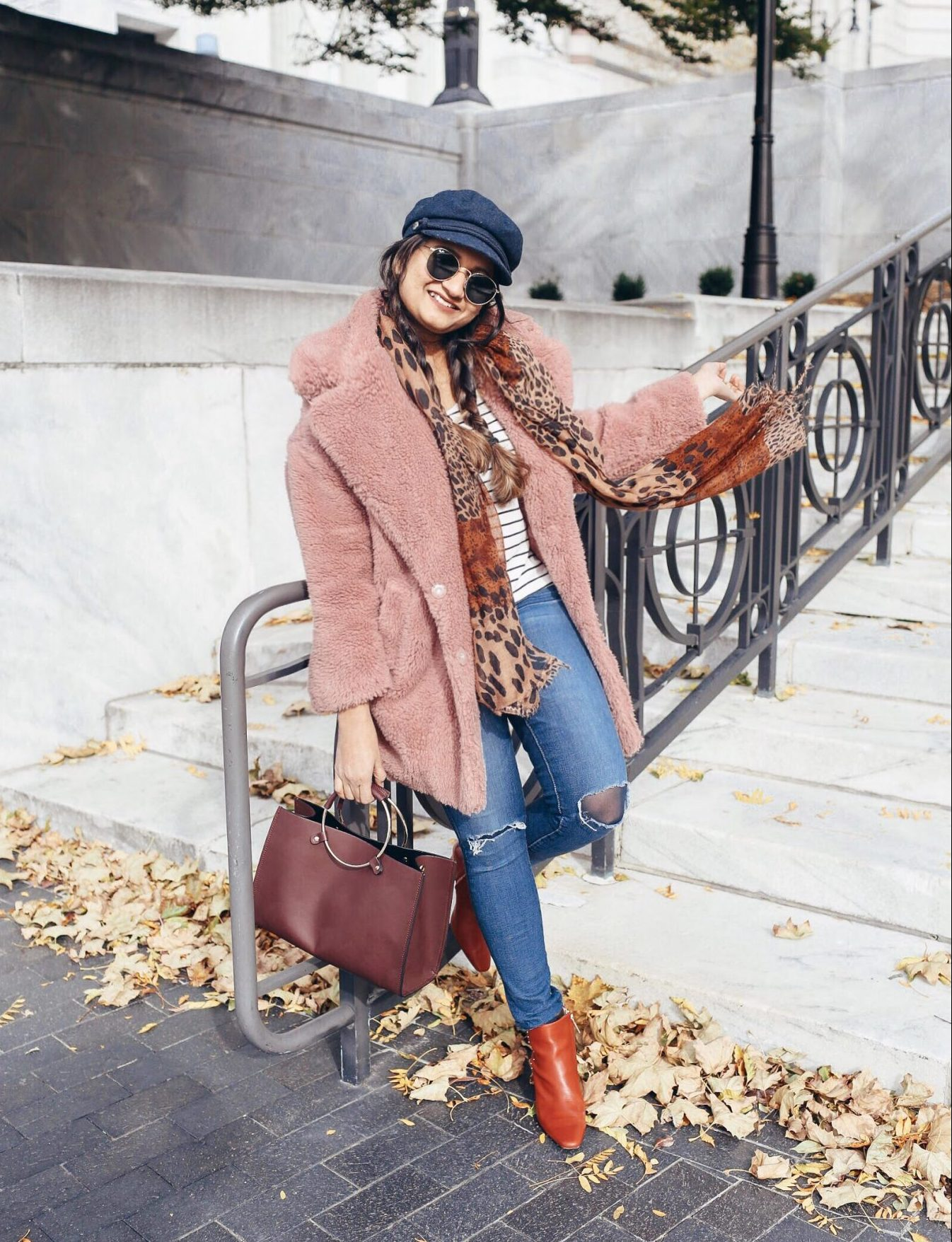 How to wear leopard scarf in stylish ways | The Leopard Print Trend featured by popular US modest fashion blogger, Dreaming Loud