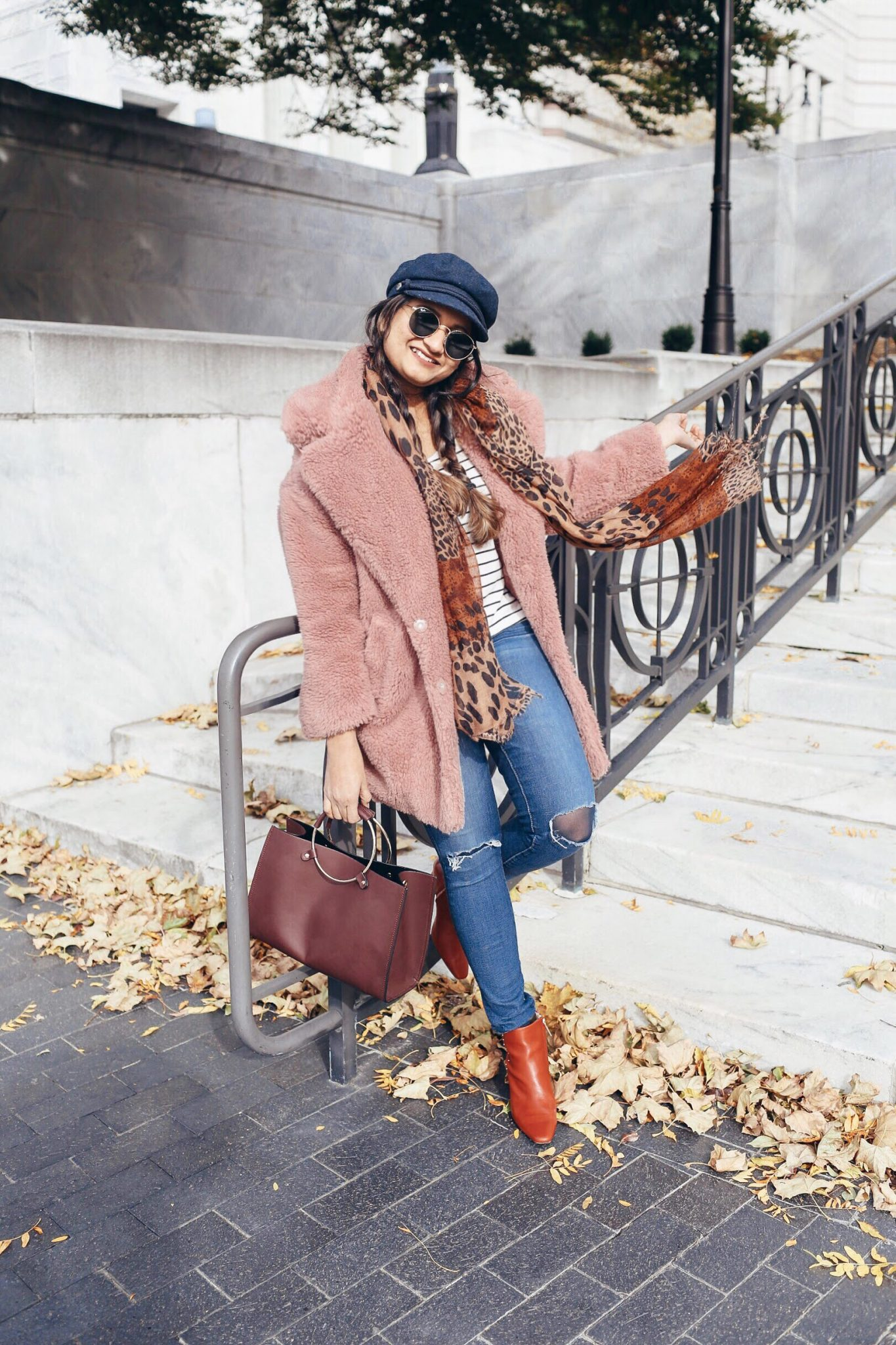 Lifestyle Blogger Surekha of dreaming loud sharing 2018 Winter trending coats 1 .jpg - Top Winter Coat Trends featured by popular Ohio modest fashion blogger, Dreaming Loud
