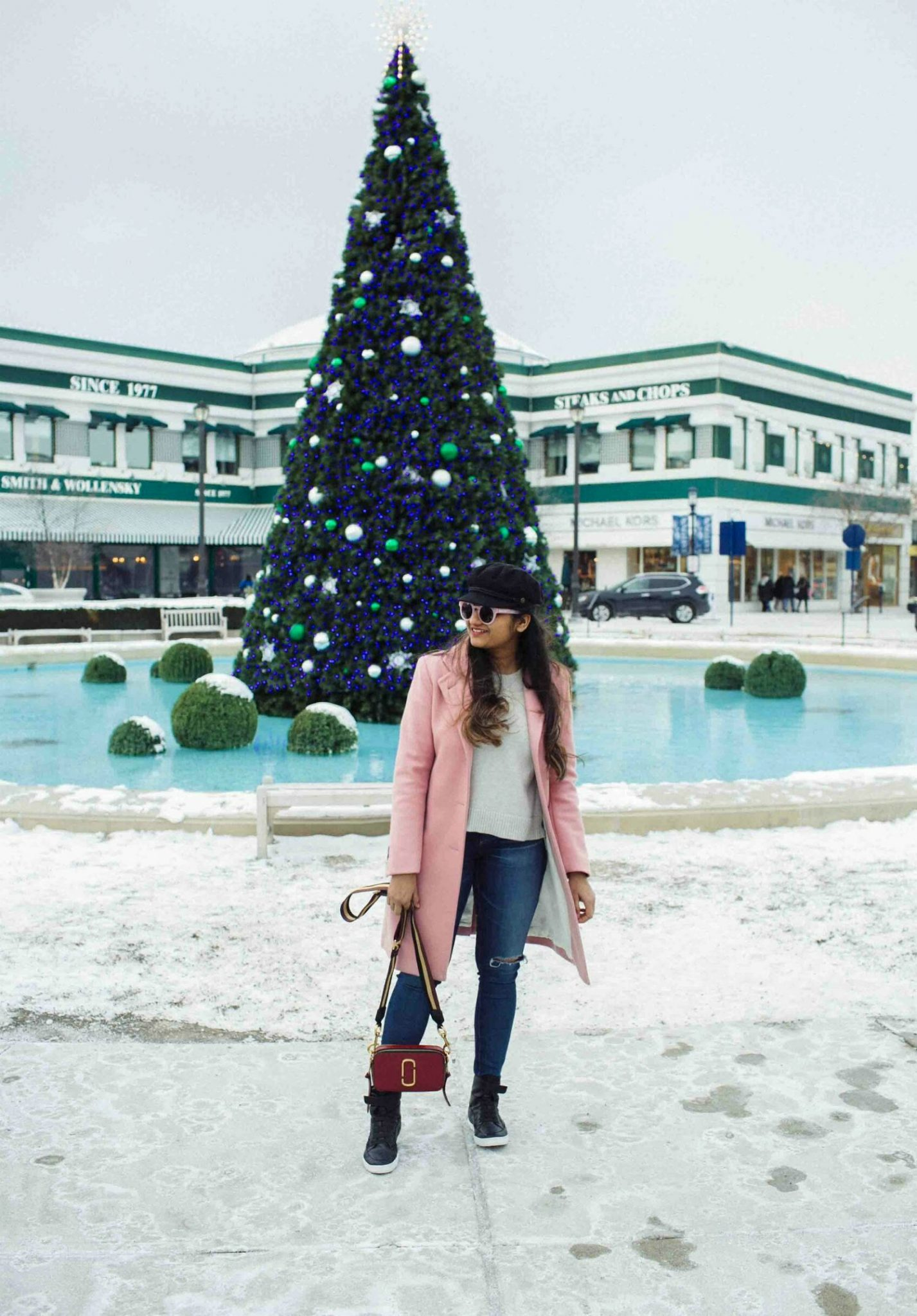 Lifestyle-blog-Dreaming-Loud-Wearing-Gloverall-Chesterfield-Coat-in-Pink 2