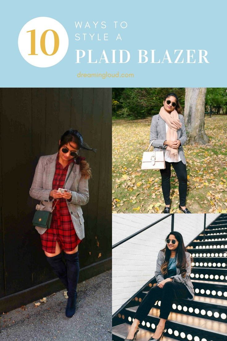 Lifestyle blog dreaming loud sharing style tips on how to wear boyfriend plaid blazer in 10 ways - 10 Ways to Wear a Plaid Blazer featured by popular Ohio modest fashion blogger, Dreaming Loud