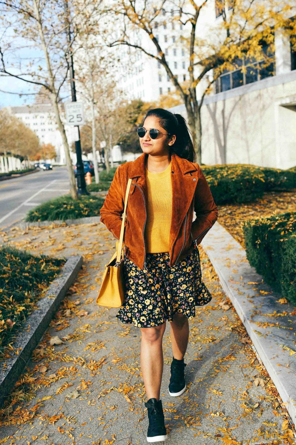 Lifestyle blog dreaming loud wearing Andrew Marc faux suede jacket -2
