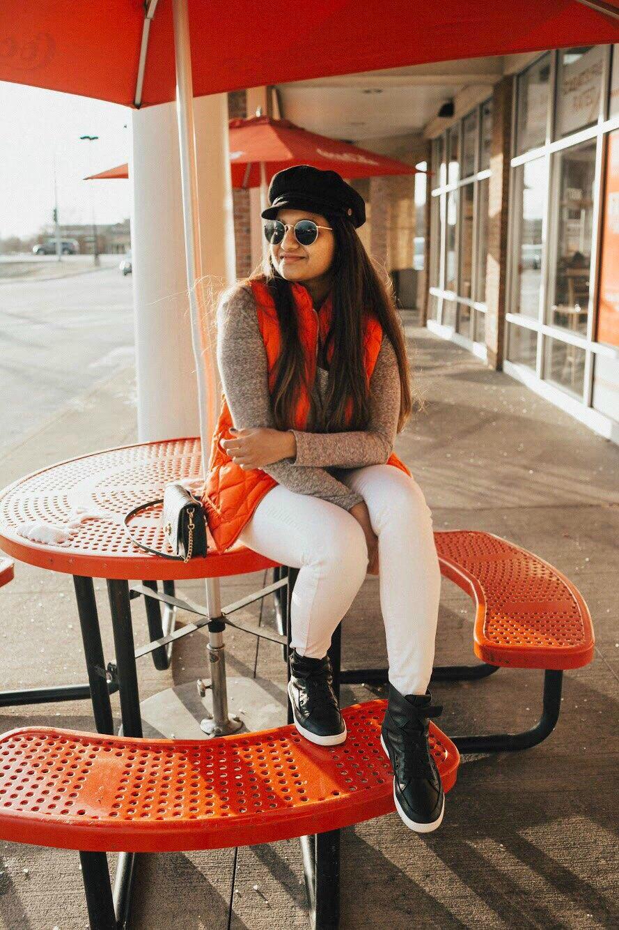 Lifestyle blog dreaming loud wearing Time slippers hi top sneakers 1