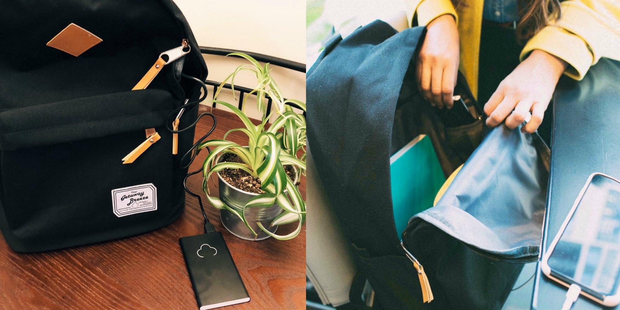 Lifestyle blog dreaming loud wearing getaway Breeze Battery Backpack 5