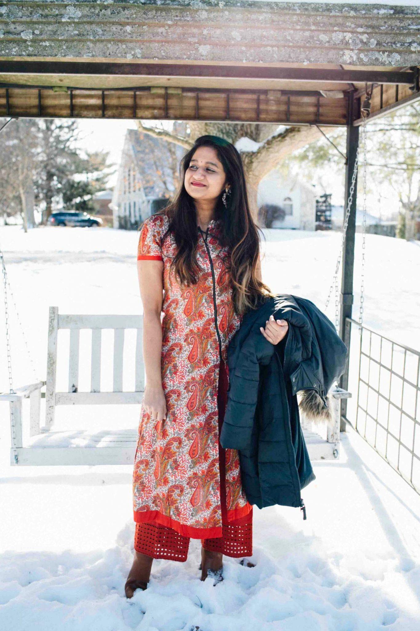 lifestyle blog dreaming loud sharing Makar Sankranti or pongal Outfit 1