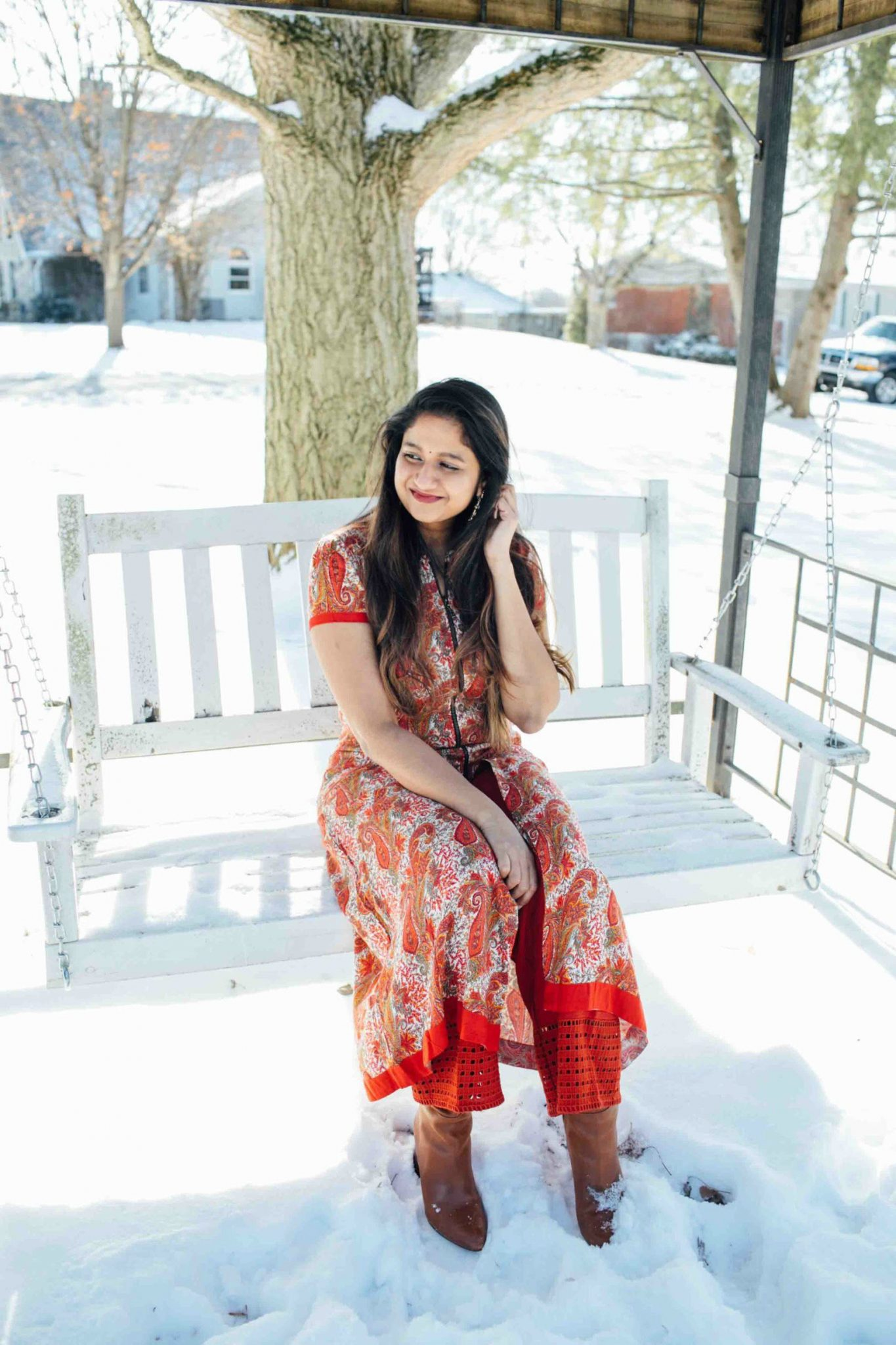 lifestyle blog dreaming loud sharing Makar Sankranti or pongal Outfit