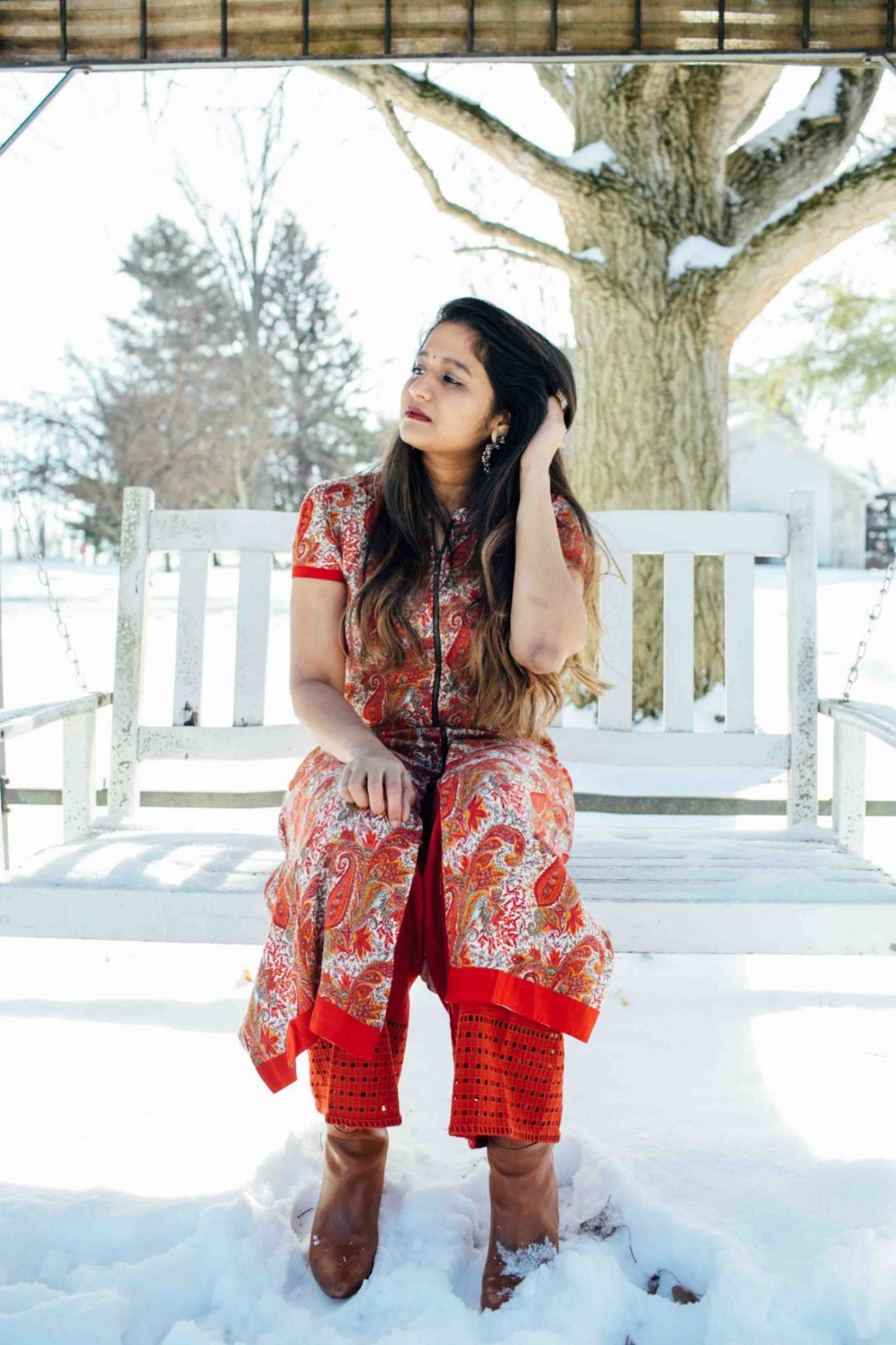 lifestyle blog dreaming loud wearing global design red palazzo pant