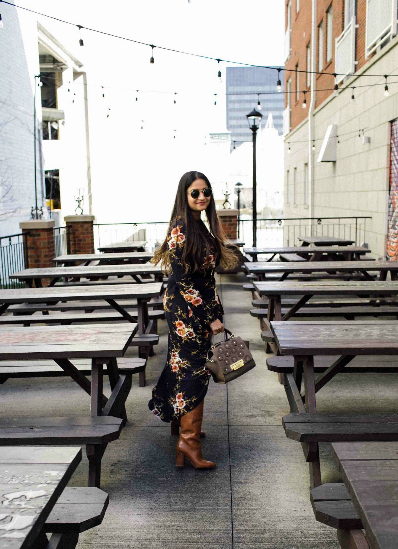 Lifestyle BLog Dreaming Loud sharing how to wear hi-low tops with skinny jeans and boots | SheIn High Low Tunic Top styled by popular Ohio modest fashion blogger, Dreaming Loud