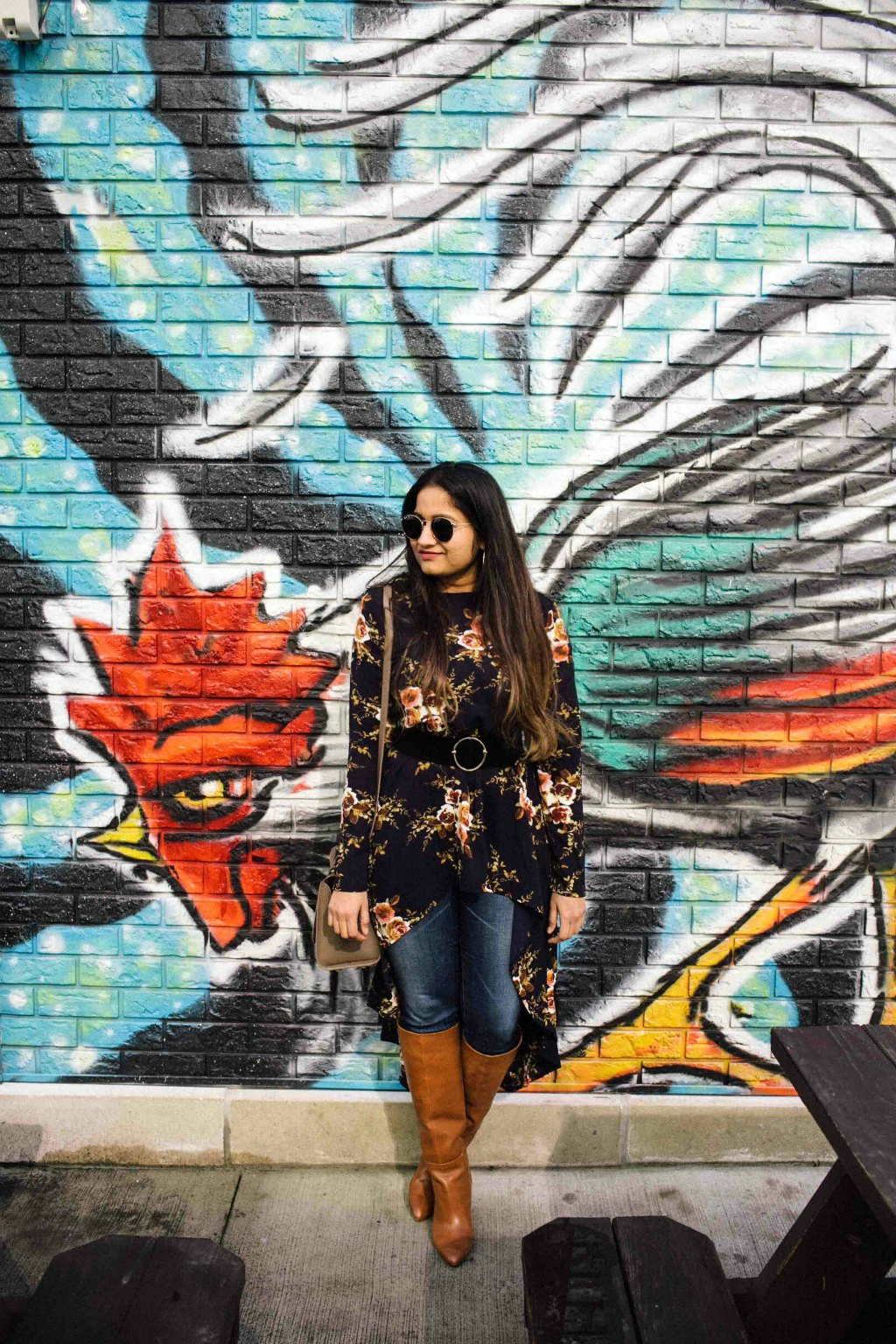 Lifestyle BLog Dreaming Loud sharing how to wear tunic top with skinny jeans and knee high boots for spring | SheIn High Low Tunic Top styled by popular Ohio modest fashion blogger, Dreaming Loud