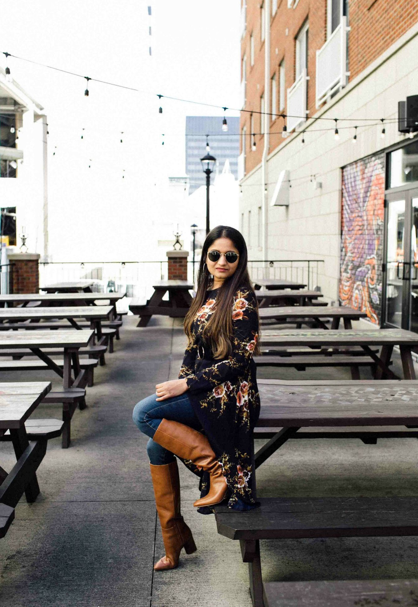 Lifestyle BLog Dreaming Loud sharing how to wear tunic tops with skinny jeans | SheIn High Low Tunic Top styled by popular Ohio modest fashion blogger, Dreaming Loud