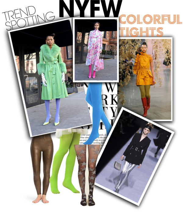 Lifestyle Blog Dreaming Loud sharing 5 Wearable Fall 2018 Fashion Trends from New York Fashion Week -Colorful tights trend | New York Fashion Week trends featured by popular Ohio modest fashion blogger, Dreaming Loud