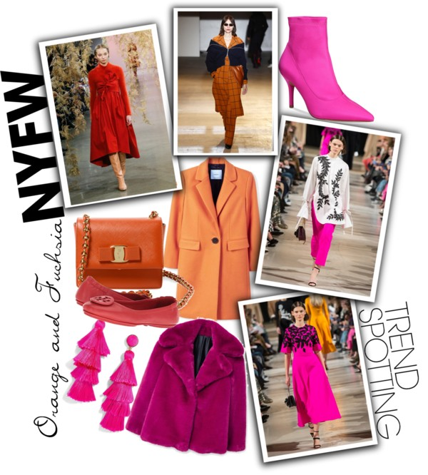 Lifestyle Blog Dreaming Loud sharing 5 Wearable Fall 2018 Fashion Trends from New York Fashion Week-Orange and Fucshia color trend| New York Fashion Week trends featured by popular Ohio modest fashion blogger, Dreaming Loud