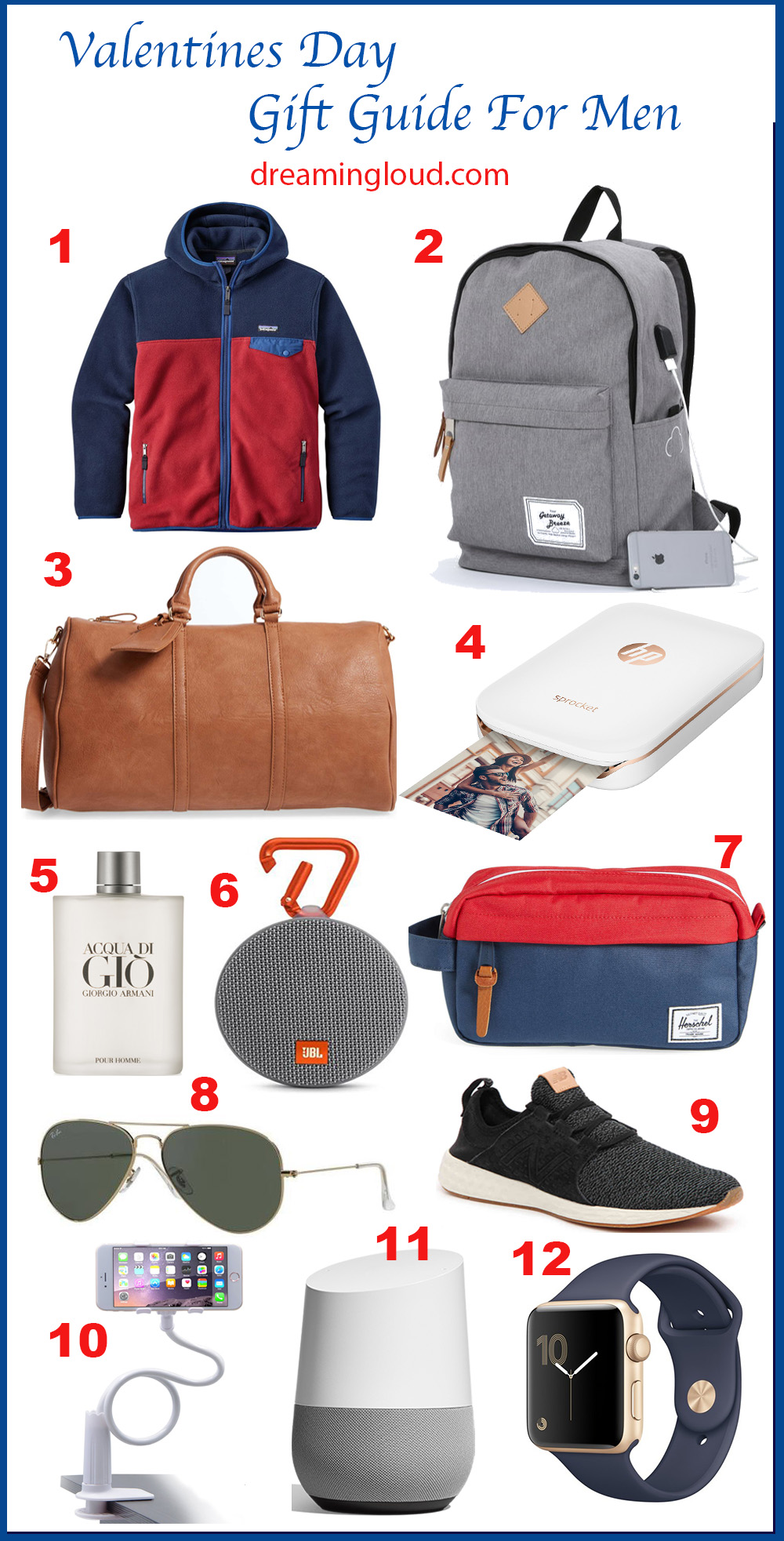 Valentine's Day Gift Guide For Him featured by popular Ohio style blogger, Dreaming Loud